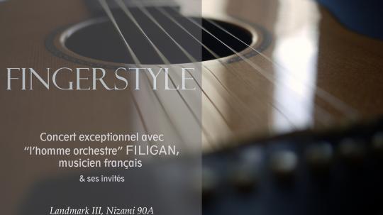 """Finger STYLE - concert avec """" l'homme orchestre """" Filigan"""