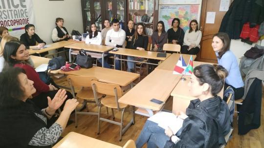 Présentation à l'Université des Langues d'Azerbaïdjan de l'approche française de la promotion de l'égalité