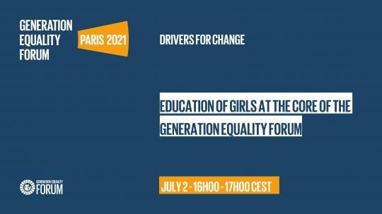 Forum Génération Egalité- Invitation à l'évènement en ligne « La Génération Egalité commence par